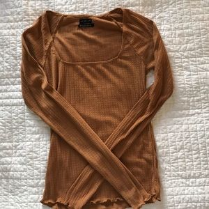 URBAN OUTFITTERS/OUT FROM UNDER SQUARE NECK TOP